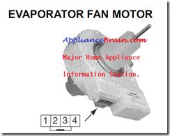 Variable speed evaporator fan motor testing for kitchenaid for How to test refrigerator evaporator fan motor